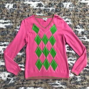 Lilly Pulitzer Sweater Pink& Green